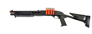 UKARMS M183A3 Spring Shotgun w/ 4 Bullet Shells, Adjustable Stock, Pistol Grip