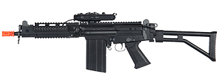 Lancer Tactical M2010-B-NB FAL RIS AEG Metal Gear, Full Metal Body, Side Folding Stock w/ PEQ Box, Battery & Charger Not Included