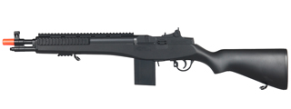 DOUBLE EAGLE M305F M14 SPRING POWERED RIFLE (COLOR: BLACK)