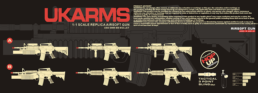 Dboys M3181AB AEG Plastic Gear M4 w/Grenade Launcher, Handguard Accessories for 6 in 1 Assembly