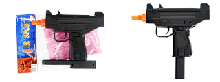 DOUBLE EAGLE AIRSOFT M33 MINI UZI SINGLE SHOT SPRING PISTOL - BLACK