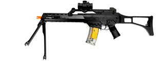 M41K2 DE M41K2 SPRING RIFLE W/ LASER, FLASHLIGHT, SCOPE, BI-POD AND SIDE FOLDING STOCK