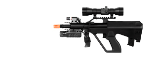 Double Eagle M45P Spring Rifle with Laser, Flashlight and Red Dot Scope
