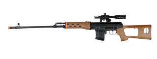 UKARMS M677A Spring Rifle w/ Laser & Flashlight in Wood