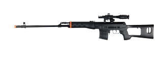 UKARMS M677B Spring Rifle with Laser and Flashlight in Black