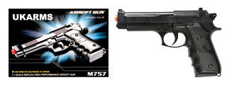 UKARMS M757B Spring Pistol in Black