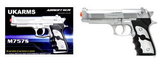 UKARMS M757S Spring Pistol in Silver