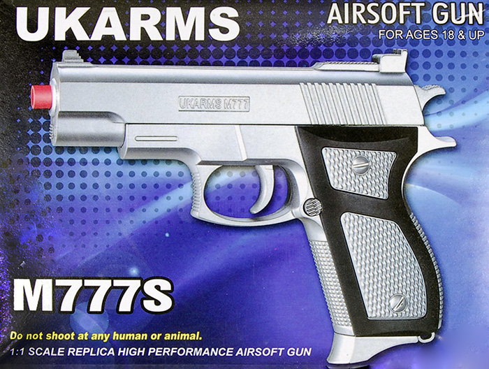UKARMS M777S Spring Pistol in Silver
