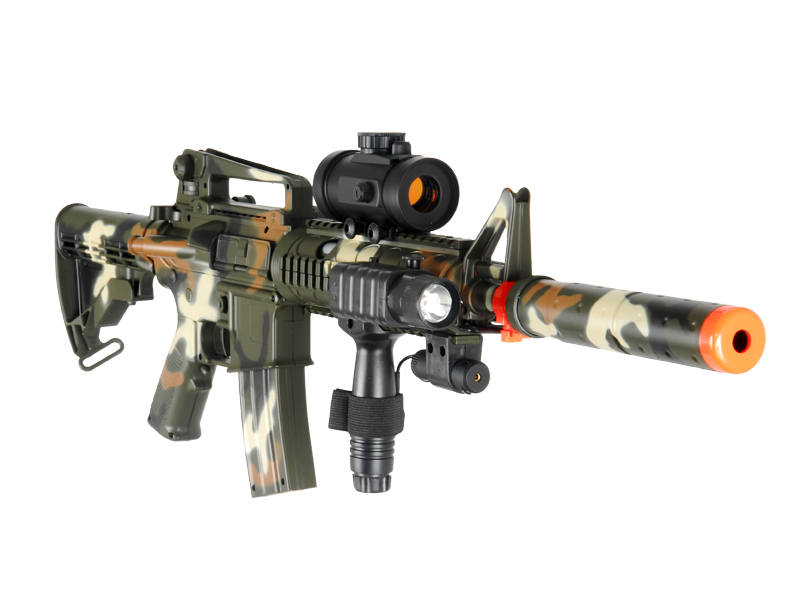 DOUBLE EAGLE M4 AEG W/ PRESSURE DOT SCOPE EXTENSION - CAMO