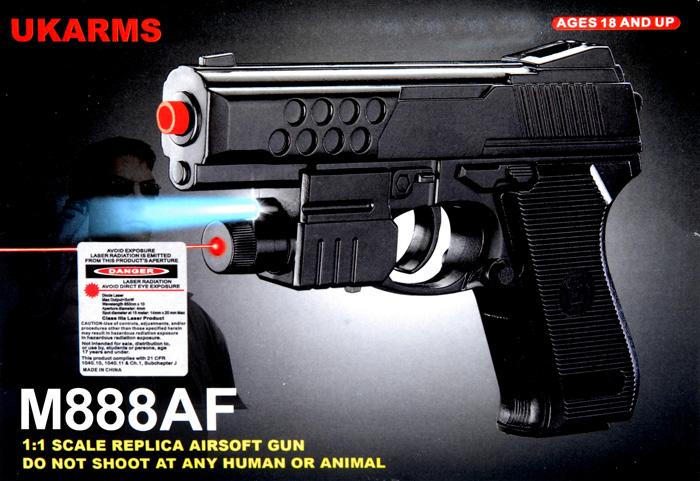 UKARMS M888AF Spring Pistol w/ Laser and Flashlight