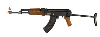 DOUBLE EAGLE AIRSOFT AK 47 AEG ABS POLYMER EDITION W/ FOLDING STOCK - WOOD