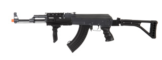 Double Eagle M900E Tactical AK-47 RIS Auto Electric Gun Metal Body Plastic Gear Side Folding Stock and Folding Foregrip