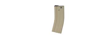 ICS MA-170 M4 Metal Hi-Cap Magazine, 450 Rds., Tan