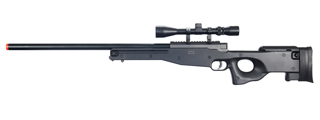 UK ARMS AIRSOFT L96 AWP BOLT ACTION RIFLE W/ SCOPE - BLACK