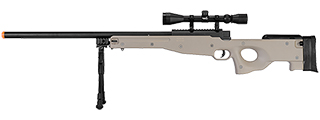 WELL MB01TAB L96 AWP BOLT ACTION RIFLE w/BIPOD & SCOPE(COLOR: TAN)