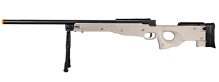 WELL MB01TBIP L96 AWP BOLT ACTION RIFLE w/BIPOD (COLOR: TAN)