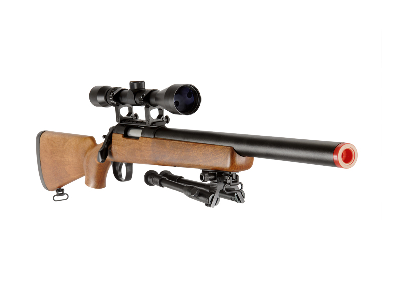WELL MB02WAB VSR-10 BOLT ACTION RIFLE w/SCOPE & BIPOD (COLOR: WOOD)