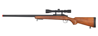 WELL MB03WA VSR-10 BOLT ACTION RIFLE w/SCOPE (COLOR: WOOD)