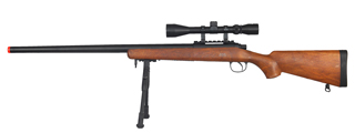 WELL MB03WAB VSR-10 BOLT ACTION RIFLE w/SCOPE & BIPOD (COLOR: WOOD)