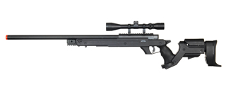 WELL MB04BA BOLT ACTION RIFLE w/SCOPE (COLOR: BLACK)