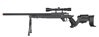 WELL MB04BAB BOLT ACTION RIFLE w/SCOPE & BIPOD (COLOR: BLACK)