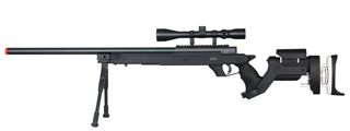 WELL MB05BAB BOLT ACTION RIFLE w/SCOPE & BIPOD (COLOR: BLACK)