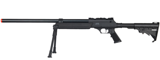 WELL AIRSOFT SR2 BOLT ACTION RIFLE W/ BIPOD - BLACK