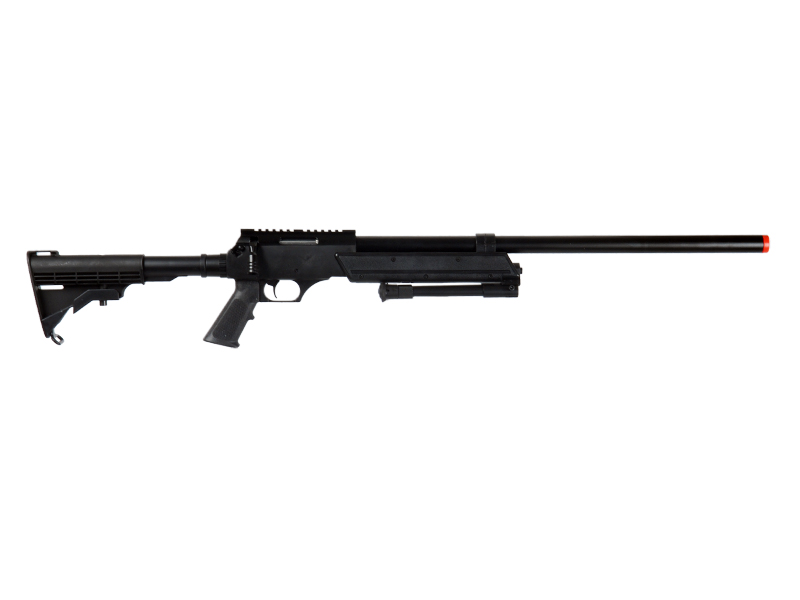 WELL MB06BBIP BOLT ACTION RIFLE w/BIPOD (COLOR: BLACK)