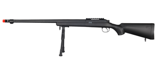 WELL MB07BBIP VSR-10 BOLT ACTION RIFLE w/FLUTED BARREL & BIPOD (COLOR: BLACK)