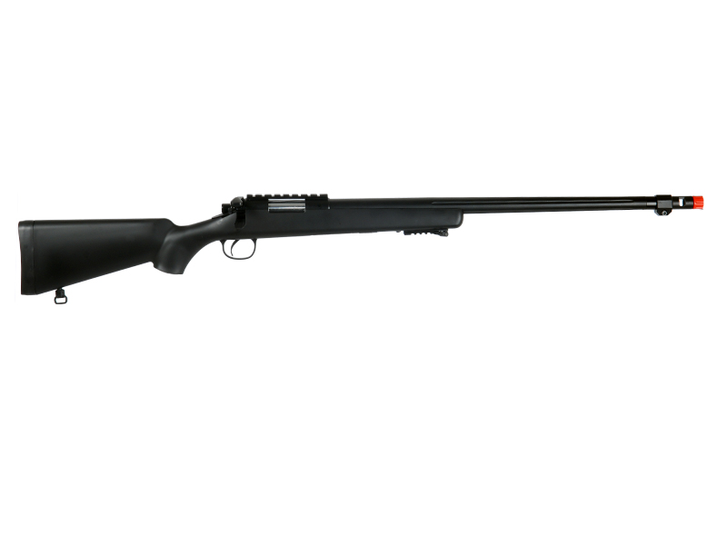 WELL MB07BBIP VSR-10 BOLT ACTION RIFLE w/FLUTED BARREL & BIPOD (COLOR: BLACK) - Click Image to Close