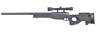 WELL MB08BA L96 AWP BOLT ACTION RIFLE w/FOLDING STOCK & SCOPE (COLOR: BLACK)