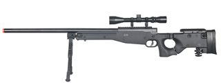 WELL MB08BAB L96 AWP BOLT ACTION RIFLE w/FOLDING STOCK BIPOD & SCOPE (COLOR: BLACK)
