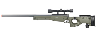 WELL MB08GA L96 AWP BOLT ACTION RIFLE w/FOLDING STOCK & SCOPE (COLOR: OD GREEN)
