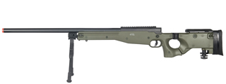 WELL MB08GBIP L96 AWP BOLT ACTION RIFLE w/FOLDING STOCK & BIPOD (COLOR: OD GREEN)