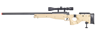 WELL MB08TA L96 AWP BOLT ACTION RIFLE w/FOLDING STOCK & SCOPE (COLOR: TAN)