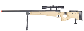 WELL MB08TAB L96 AWP BOLT ACTION RIFLE w/FOLDING STOCK BIPOD & SCOPE (COLOR: TAN)