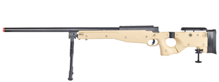 UK ARMS AIRSOFT L96 AWP BOLT ACTION SNIPER RIFLE W/ FOLD STOCK - TAN