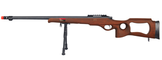 WELL MB09WBIP BOLT ACTION RIFLE w/FLUTED BARREL & BIPOD (COLOR: WOOD)