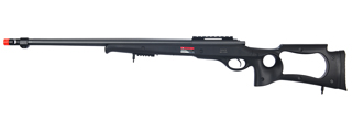 WELL MB10B BOLT ACTION RIFLE w/FLUTED BARREL (COLOR: BLACK)