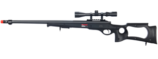 WELL MB10BA BOLT ACTION RIFLE w/FLUTED BARREL & SCOPE (COLOR: BLACK)