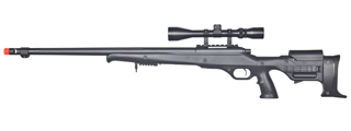 WELL MB11BA BOLT ACTION RIFLE w/FLUTED BARREL & SCOPE (COLOR: BLACK)