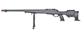 WELL MB11BBIP BOLT ACTION RIFLE w/FLUTED BARREL & BIPOD (COLOR: BLACK)