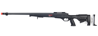 WELL MB12B BOLT ACTION RIFLE w/FLUTED BARREL (COLOR: BLACK)