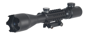 MB1300 4-16x50MM TRI-RAIL ILLUMINATED RIFLE SCOPE w/INTEGRATED SCOPE MOUNT