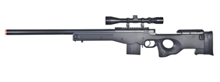 WELL MB4401BA L96 AWS BOLT ACTION RIFLE w/SCOPE (COLOR: BLACK)