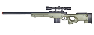 WELL MB4401GA L96 AWP BOLT ACTION RIFLE w/SCOPE (COLOR: OD GREEN)
