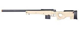 WELL AIRSOFT L96 AWS BOLT ACTION RIFLE METAL BARREL OPTICS RAIL - TAN
