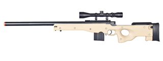 WELL MB4401TA L96 AWP BOLT ACTION RIFLE w/SCOPE (COLOR: TAN)