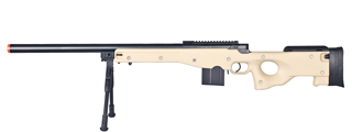 WELL MB4401TBIP L96 AWP BOLT ACTION RIFLE w/BIPOD (COLOR: TAN)