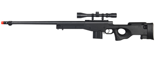 WELL MB4402BA BOLT ACTION RIFLE w/FLUTED BARREL & SCOPE (COLOR: BLACK)